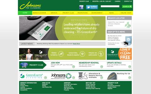Screenshot of Home Page johnsoncleaners.com - Johnsons Dry Cleaning | The UK's No.1 Dry Cleaner - captured Sept. 19, 2014