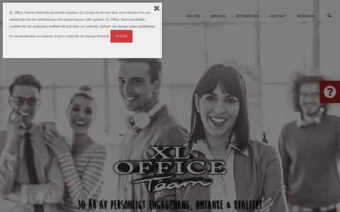 Screenshot of Home Page xloffice.se - Välkommen till XL Office Team – Vi är ett IT-tjänsteföretag som levererat kundnytta sedan starten 1988. - captured Sept. 25, 2018