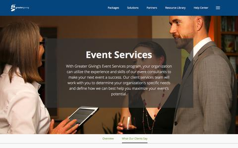 Event Services – Product | Greater Giving - Greater Giving