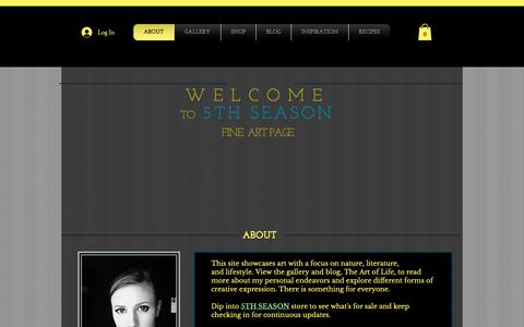 Screenshot of Home Page 5thseasondesigns.com - 5thseason - captured Oct. 18, 2018