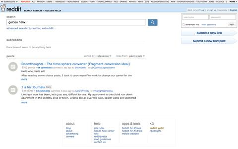 reddit.com: search results - golden helix