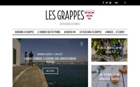 Screenshot of Blog lesgrappes.com - Le Blog - Les Grappes - captured July 21, 2015
