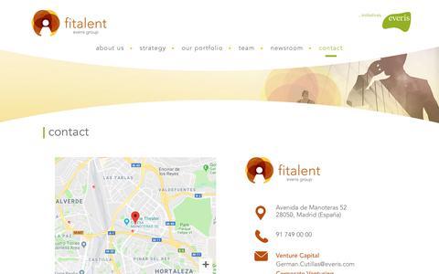 Screenshot of Contact Page fitalent.es - contact – Fitalent - captured Nov. 6, 2018