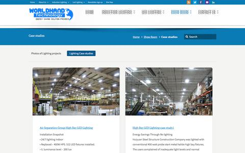 Screenshot of Case Studies Page ecolvd.com - Case studies – Induction lamps | Induction Lighting Professional Solutions - captured July 24, 2018