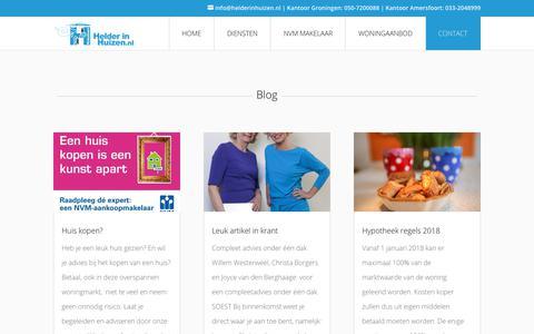 Screenshot of Blog helderinhuizen.nl - Blog - Helder in Huizen - captured Sept. 28, 2018