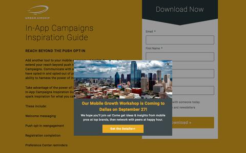 In-App Campaigns Inspiration Guide