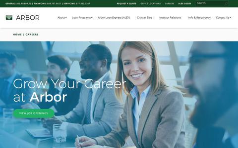 Screenshot of Jobs Page arbor.com - Careers - Arbor Realty Trust, Inc. | Arbor - captured Jan. 21, 2018