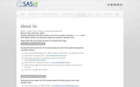 Marketing Life & Health Insurance with SAS Insurance Development   SASid = Smart and Simple insurance development
