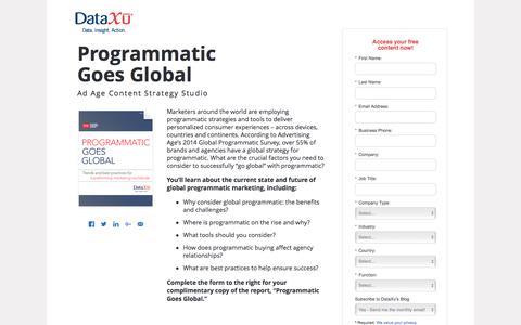 Screenshot of Landing Page dataxu.com - Ad Age: Programmatic Goes Global - captured Aug. 17, 2016