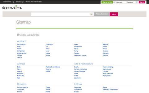 Screenshot of Site Map Page dreamstime.com - Sitemap: Dreamstime Stock Photos & Images - captured Sept. 19, 2014