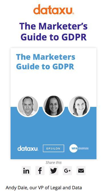 Marketers Guide to GPR | DataXu Webinar