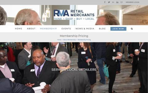 Screenshot of Pricing Page retailmerchants.com - Membership Pricing – Retail Merchants - captured Nov. 12, 2017