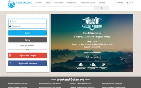 Screenshot of Login Page shoesonloose.com - A summer in ladakh - captured May 27, 2017