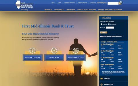 Screenshot of Home Page firstmid.com - First Mid-Illinois Bank & Trust - captured Jan. 16, 2016
