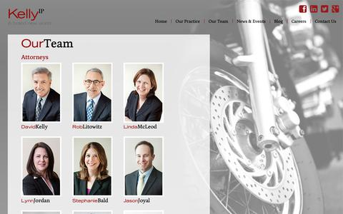 Screenshot of Team Page kelly-ip.com - Our Team | Kelly IP | Washington DC - captured Oct. 15, 2018