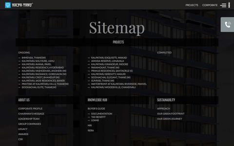 Screenshot of Site Map Page kalpataru.com - Kalpataru Group Mumbai | Sitemap - captured Sept. 23, 2018