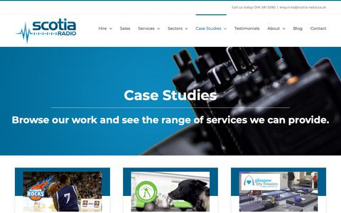 Screenshot of Case Studies Page scotia-radio.co.uk - Case Studies | Scotia Radio - captured Dec. 17, 2018