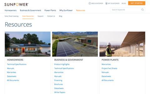 Resources | SunPower