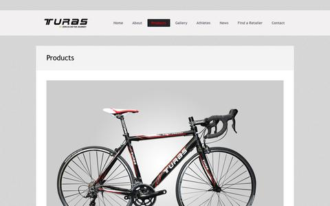 Screenshot of Products Page turasbikes.com - List of products/TURAS Bikes | TURAS Bikes - captured Sept. 30, 2014