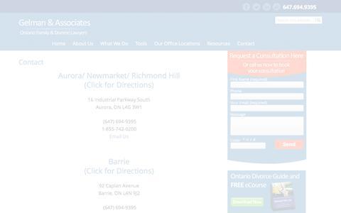 Screenshot of Contact Page Maps & Directions Page lisagelman.com - Contact Information Gelman & Associates - captured Jan. 27, 2016
