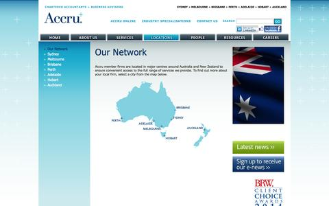 Screenshot of Locations Page accru.com - Accru Accountants | Australia | New Zealand | Aus | NZ - Accru - captured Oct. 4, 2014