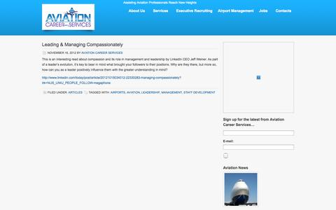 Screenshot of Blog aviationcareerservices.com - Blog - Aviation Career Services - captured Sept. 30, 2014