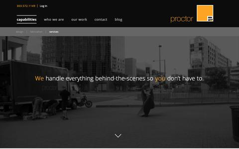 Screenshot of Services Page proctorproductions.com - Services | Proctor Productions - captured Nov. 5, 2018