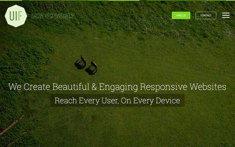 Screenshot of Home Page uifarm.co.uk - Responsive Web Design, London | UI Farm - captured Nov. 18, 2016