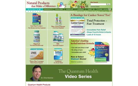 Screenshot of Home Page quantumhealth.com - Natural Products That Make A Difference - Quantum Health - captured Sept. 23, 2014