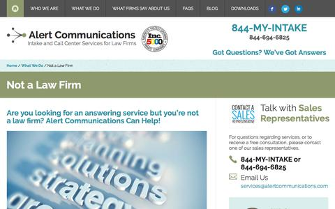 Not a Law Firm | Alert Communications
