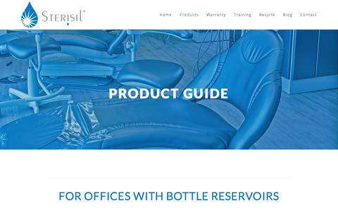 Screenshot of Products Page sterisil.com - Product Guide — Sterisil - captured June 17, 2017