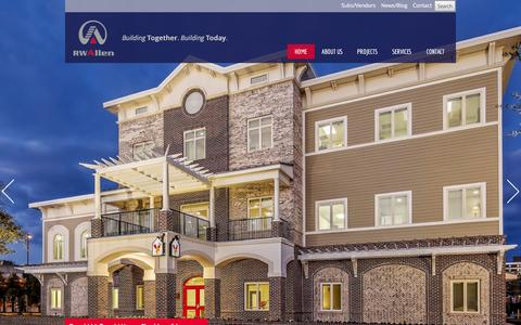 Screenshot of Home Page rwallen.com - commercial general contractor - captured Feb. 13, 2016