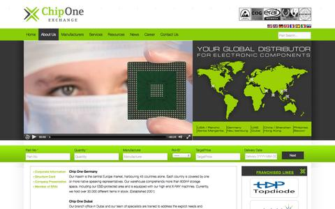 Screenshot of About Page chip-1.com - Corporate Information | - captured Sept. 25, 2014