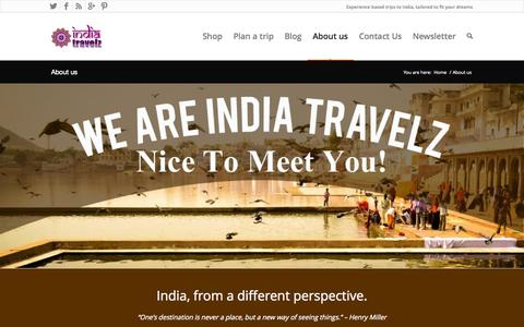 Screenshot of About Page indiatravelz.com - India Travelz | About us - India Travelz - captured Sept. 30, 2014