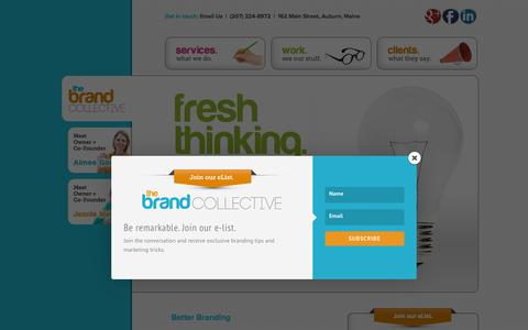 Screenshot of Home Page brandmaine.com - The Brand Collective - Branding and Marketing - captured Sept. 11, 2015