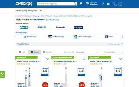 Elektrische Zahnbürste günstig im CHECK24-Preisvergleich