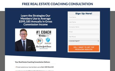 Screenshot of Landing Page tomferry.com - Get Your Free Coaching Consultation - captured Feb. 13, 2017