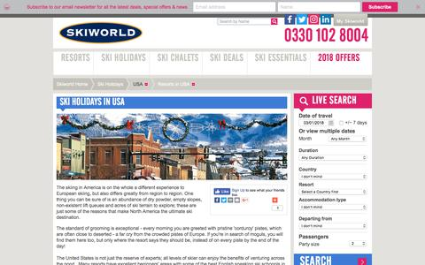 USA Ski Holidays | Skiing In North America | Skiworld