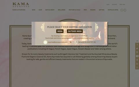 Screenshot of About Page kamaayurveda.com - About Us | Kama Ayurveda - captured March 31, 2017