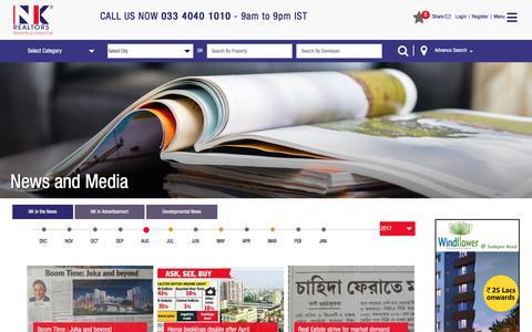 Screenshot of Press Page nkrealtors.com - NK Realtors   Media   News - captured Sept. 19, 2017