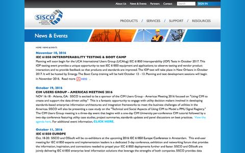 Screenshot of Press Page sisconet.com - News & Events - Systems Integration Specialists Company Systems Integration Specialists Company - captured Nov. 18, 2016