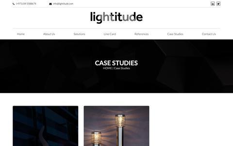 Screenshot of Case Studies Page lightitude.com - Lightitude - captured Nov. 5, 2018