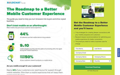 Screenshot of Landing Page boldchat.com - The Roadmap to a Better Mobile Customer Experience | BoldChat - captured March 20, 2017