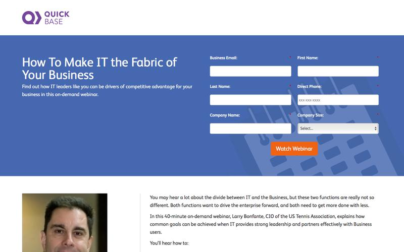 How to Make IT the Fabric of Your Business Webinar | QuickBase