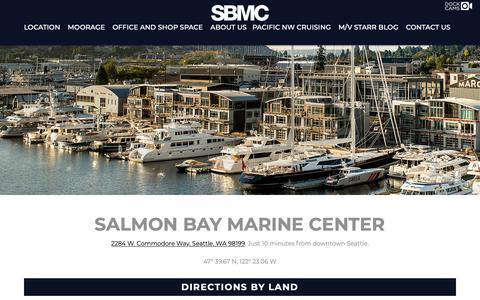 Screenshot of Maps & Directions Page sbmc.com - Location - Salmon Bay Marine Center - captured Oct. 2, 2018