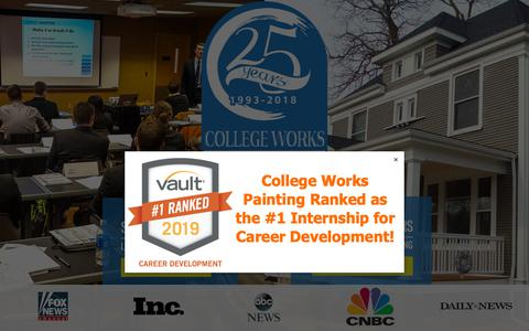 Screenshot of Home Page collegeworks.com - Student Painters Internship – College Works Painting - captured Dec. 15, 2018