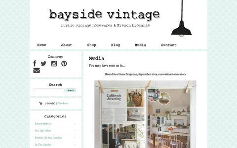 Screenshot of Press Page baysidevintage.com.au - Media - Bayside Vintage - captured Oct. 29, 2014