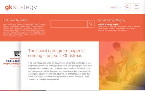 Screenshot of Blog gkstrategy.com - Blog - GK Strategy - captured Dec. 7, 2018