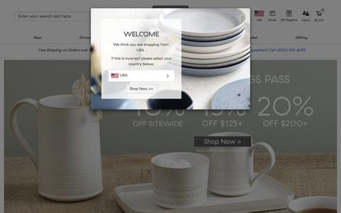 Screenshot of Home Page denbyusa.com - Denby Pottery | Dinner Sets, Tableware, Cookware & Glassware - captured Aug. 6, 2018