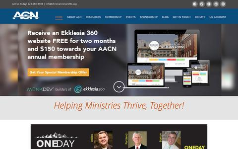 Screenshot of Home Page azchurches.org - Association of Christian NonProfits - captured Aug. 5, 2015
